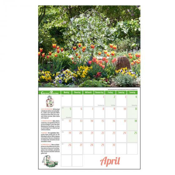 Gartenkalender mit 2 Blechschildern | #4