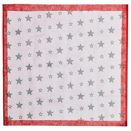 Christbaum Unterlegdecke, 80x80 cm, rot | #4