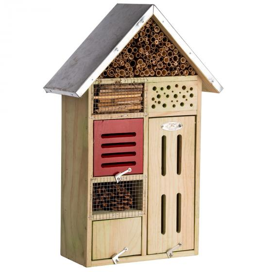 Insektenhotel Nature mit Zinkdach, ca. 48x 31 cm   #4