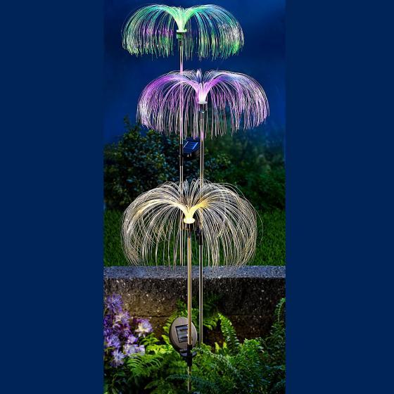Solar-Gartenstecker Fantasia, Fiberglas, 3er-Set | #4