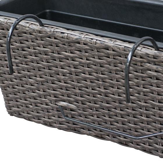 Balkonkasten Vio mit Halter und Kunststoffeinsatz, 51 x 21 x 19 cm   #4