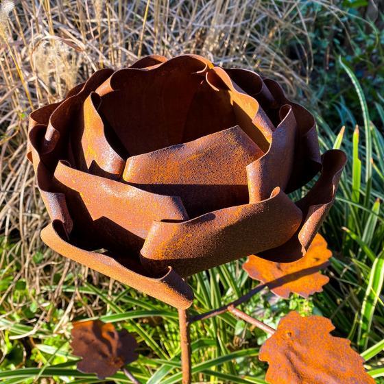 Gartenstecker Rosenzauber, Edelrost, ca. 99 cm | #4