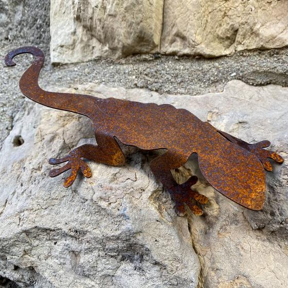 Tierfigur Salamanderpärchen, Edelrost | #4