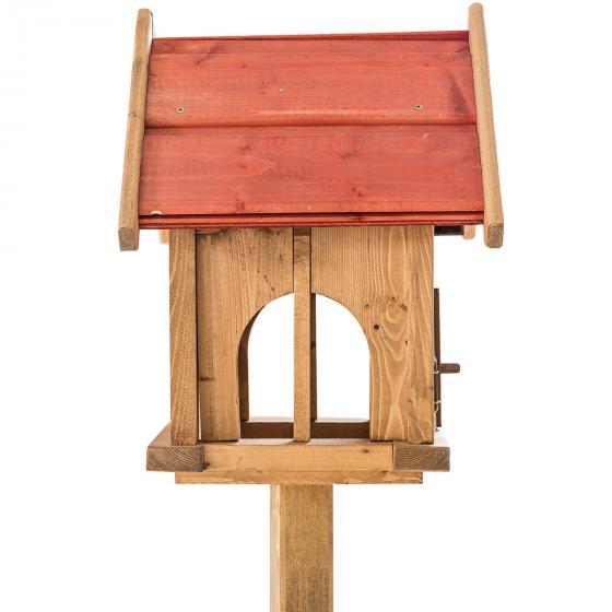 Vogelfutterhaus Max, mit Ständer, Holz | #4
