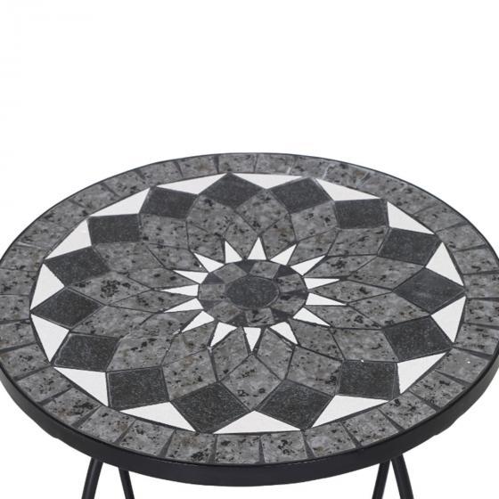 Beistelltisch Mosaik, Stahlgestell mit Keramikflächen, ca. 41 x 41 x 59 cm | #4