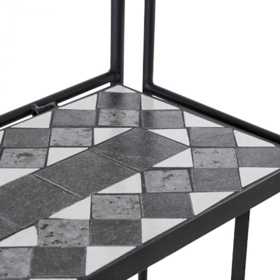 Regal Mosaik, Stahlgestell mit Keramikflächen, ca. 29 x 62 x 142 cm | #4