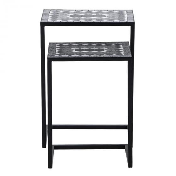 Bestelltisch Mosaik, Stahlgestell mit Keramikflächen, 2er-Set | #4