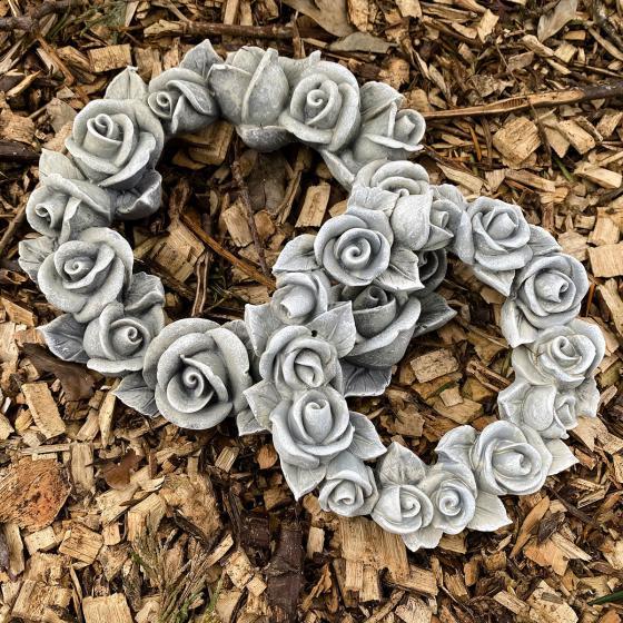 Poly-Rosendekokranz, klein, Durchmesser 13 cm | #4