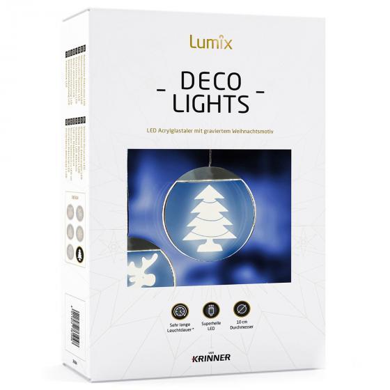 Deko-Lights Tannenbaum, silber, Ø 10 cm | #4