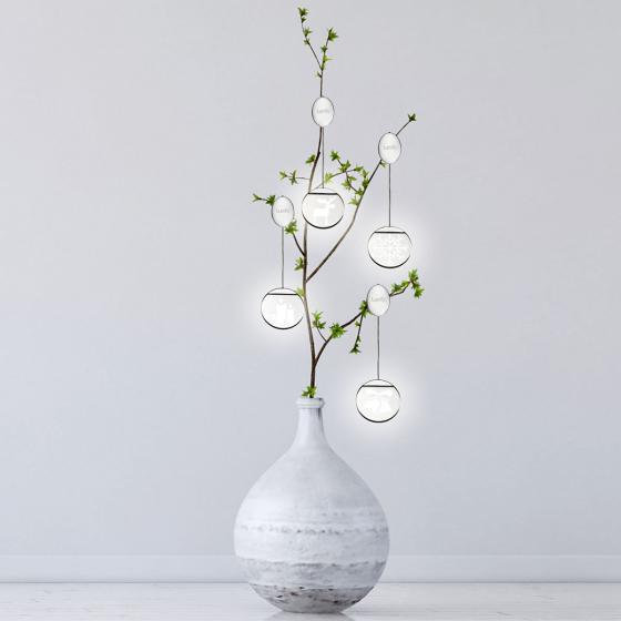 Deko-Lights Schneemann, silber, Ø 10 cm   #4