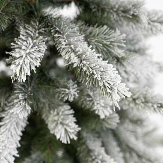 Künstlicher Weihnachtsbaum Fichte, Schneeoptik, mit Beleuchtung, 150 cm   #4