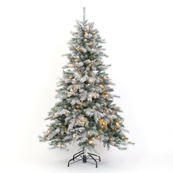 Künstlicher Weihnachtsbaum Fichte. Schneeoptik, mit LED-Beleuchtung, 180 cm | #4
