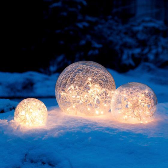 Glaskugel Weihnachtsglanz, klar 20 cm | #4