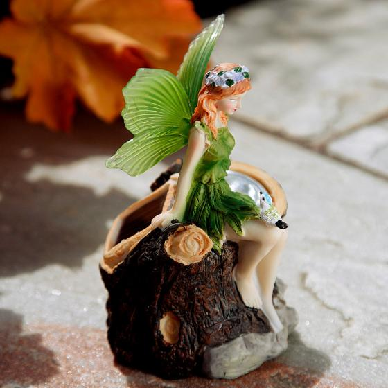 Gartenfiguren Elfen, 3er-Set mit Solar-LED-Lampen | #4