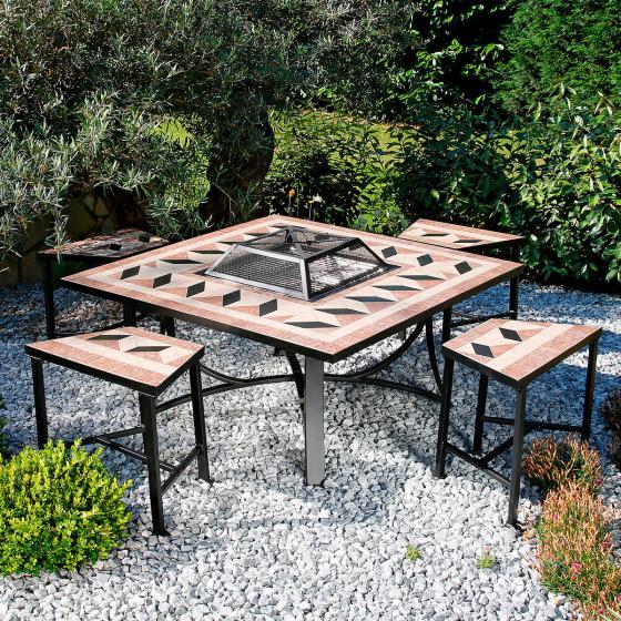 Mosaik-Grill-Sitzgruppe | #4
