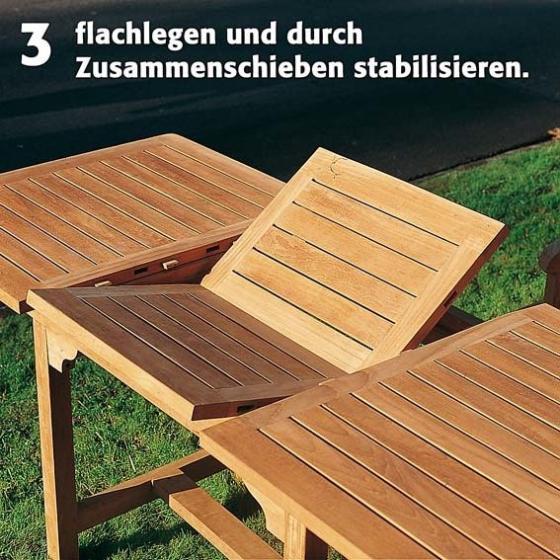 TEAK-Maxi-Tisch King Henry, Länge 200-300 cm | #4