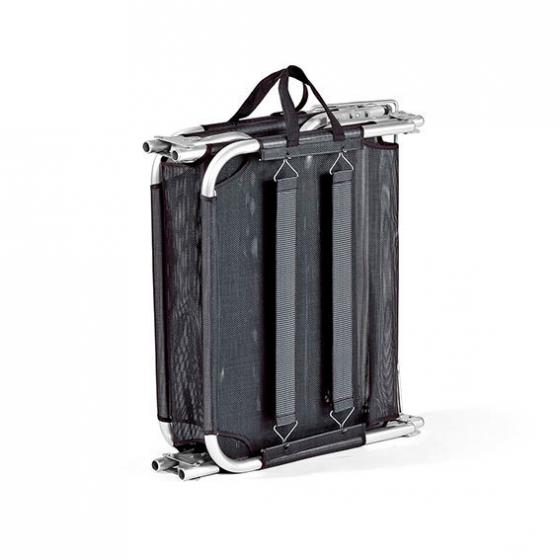 Tragbare Aluminium-Sonnenliege Rimini, schwarz | #4