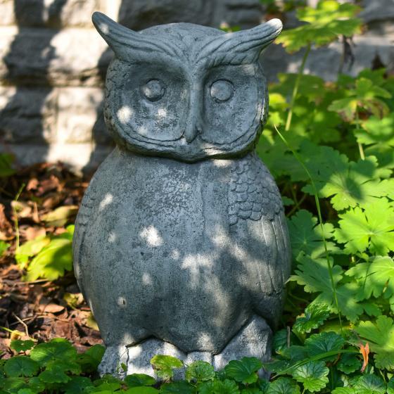 Gartenfigur Steineule, Antik - Steinguss, frostsicher | #4