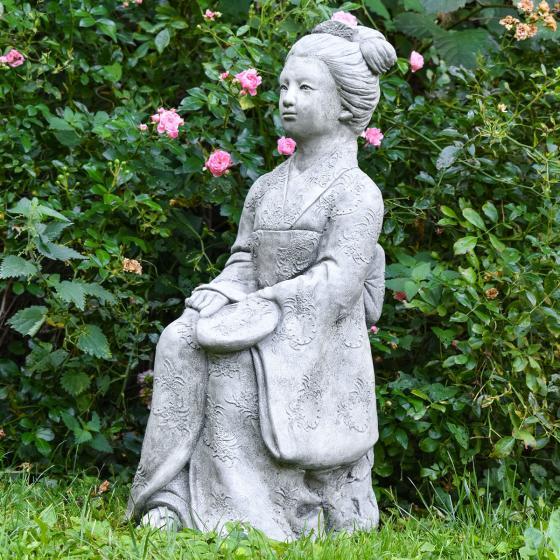 Garten-Steinfigur Geisha | #4