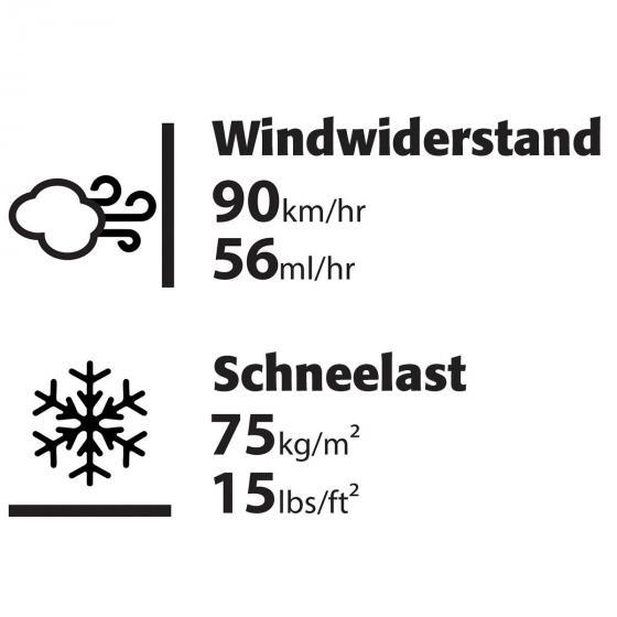 Gewächshaus Balance 8 x 12 inkl. Stahlfundament, 367 x 244 x 229 cm, silber | #4