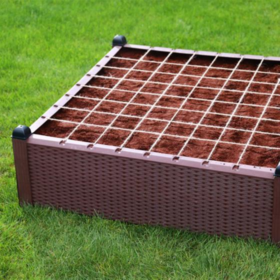 Gartenhochbeet, Kunststoff, braun, 99,5x99,5x30 cm | #4