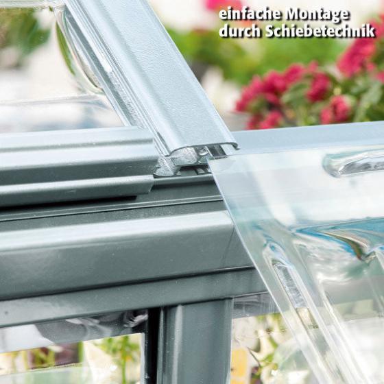 Palram Gewächshaus Silver Line 6 x 4 inkl. Stahlfundament, 125 x 185 x 209 cm, Aluminium, silber | #4
