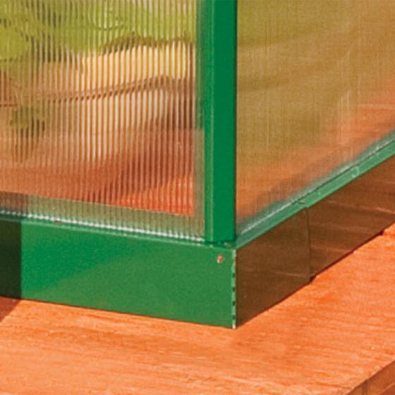 Gewächshaus Green Line Multi 6 x 4 inkl. Stahlfundament, 125 x 185 x 209 cm, Aluminium, grün | #4