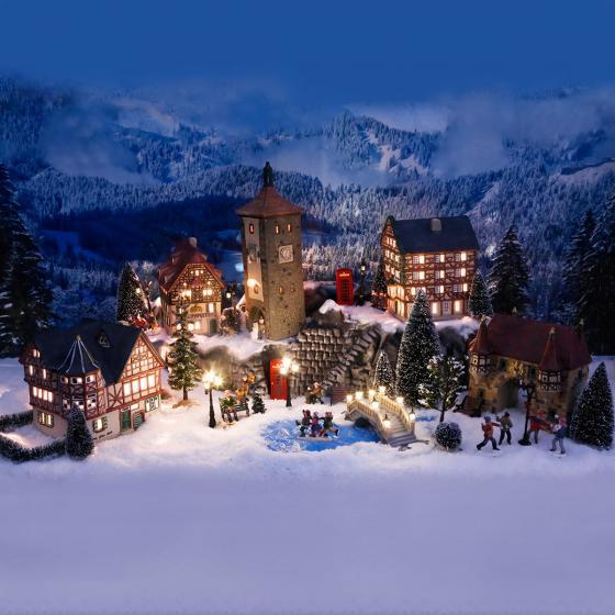Miniatur-Weihnachtsdorf-Lichthaus Altes Weinhaus in Bacharach | #5