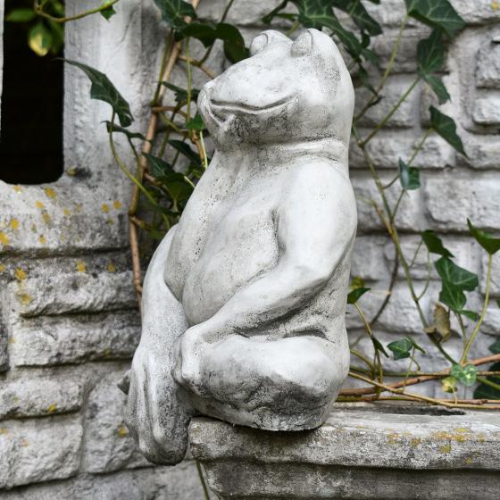 Gartenfigur Mauerhocker Frosch | #5