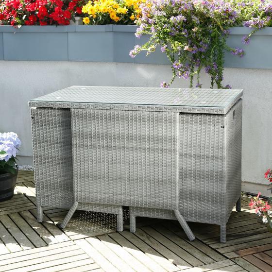 Balkon-Set Cube, grau | #5