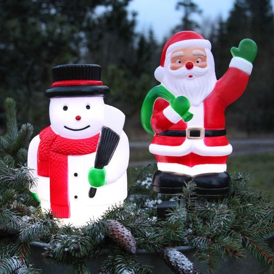 Star LED-Gartenstecker Weihnachtsmann, 28x18x11 cm, Kunststoff, bunt | #5