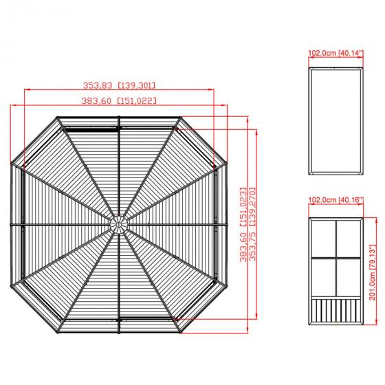 Pavillon Charleston 12x12, 281x384x384 cm | #5