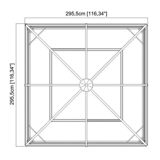 Pavillon Ventura 10x10, 260x296x296 cm | #5