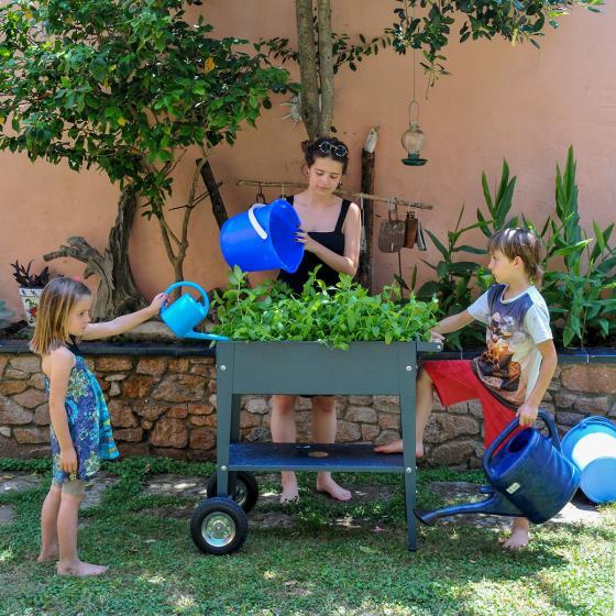 Herstera Urban Garden mit Rädern, anthrazit, 75x35x80 cm | #5