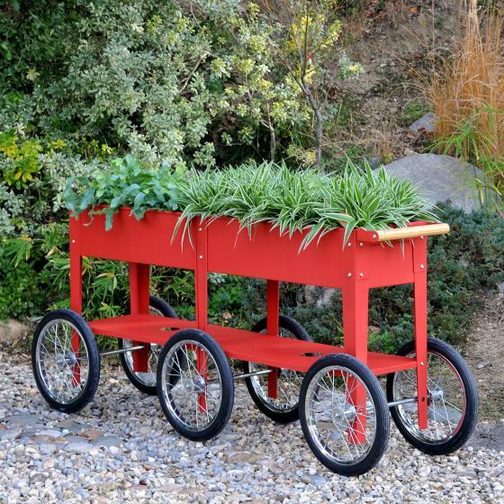 Hochbeet Urban Garden Wheels, rot, 150x35x80 cm | #5