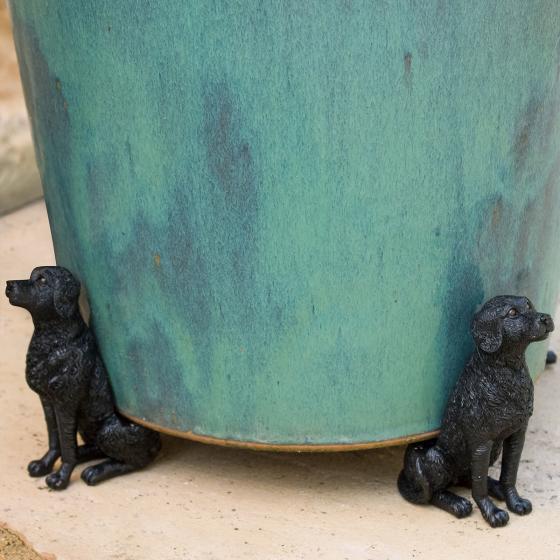 Kübelfuß Bronzeoptik 3er-Set Hündchen, 8,5x5,5x11,5 cm | #5