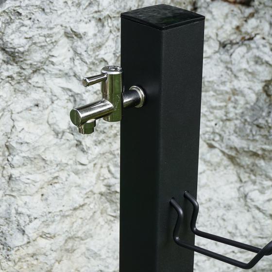 Wasserzapfsäule Quadra, 100x14x21 cm, Stahl, anthrazit | #5