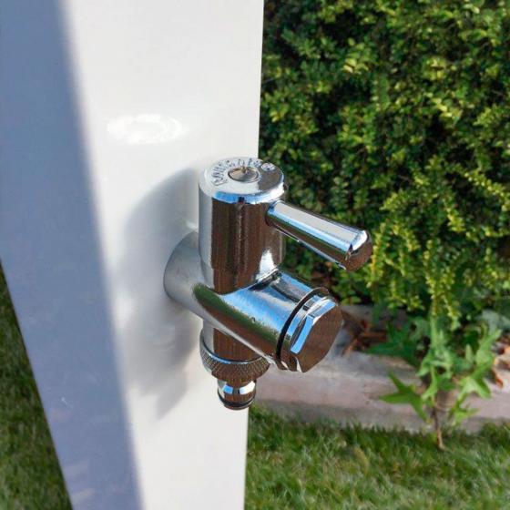 Wasserzapfsäule Quadra, 100x14x21 cm, Stahl, weiß | #5