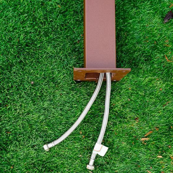 Wasserzapfsäule Quadra, 100x14x21 cm, Stahl, braun | #5