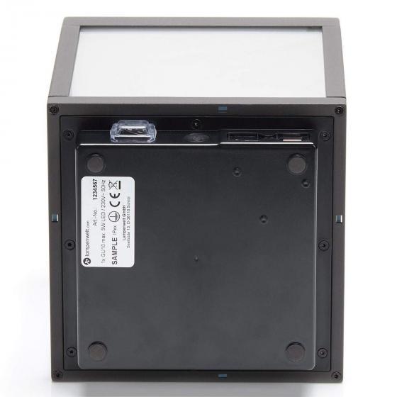 LED Tischleuchte Cube, 26,7x18x18 cm, Aluminium, grau | #5