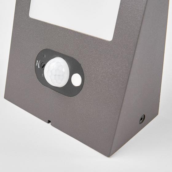 Solar-LED-Außenwandleuchte Felin mit Bewegungsmelder, 6,6x12,5x14,5 cm, Aluminium, grau | #5