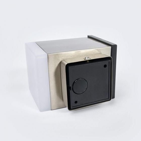 LED-Solar-Außenwandleuchte Tyson, eckig, 11,5x8,4x11,5 cm, Edelstahl, silber | #5