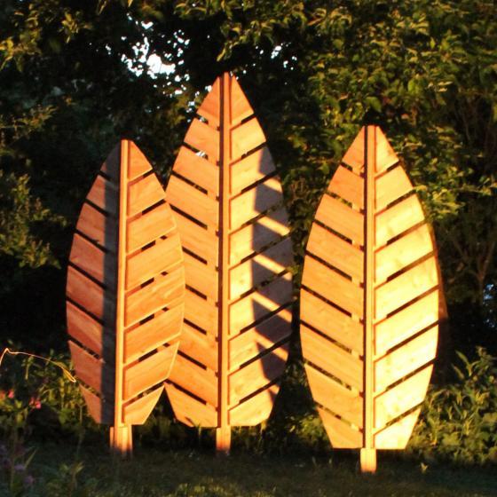 Rankgitter Blatt Folium, 142x57 cm, Lärchenholz, natur | #5