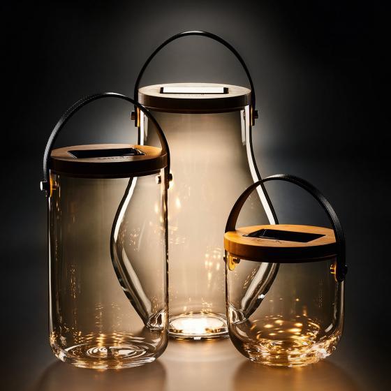 Deko Glas Long, 25,5x14,5x14,5 cm, Glas, Bambus, klar | #5