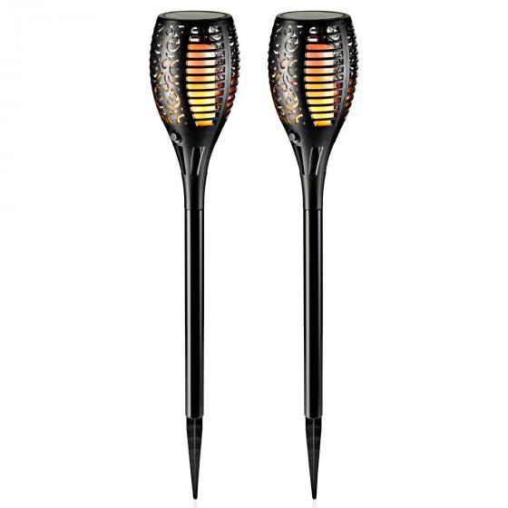 Solar Gartenstecker Flame 2er-Set, Flammeneffekt durch 51 LEDs,47 cm, Erdspieß ca. 11 cm | #5