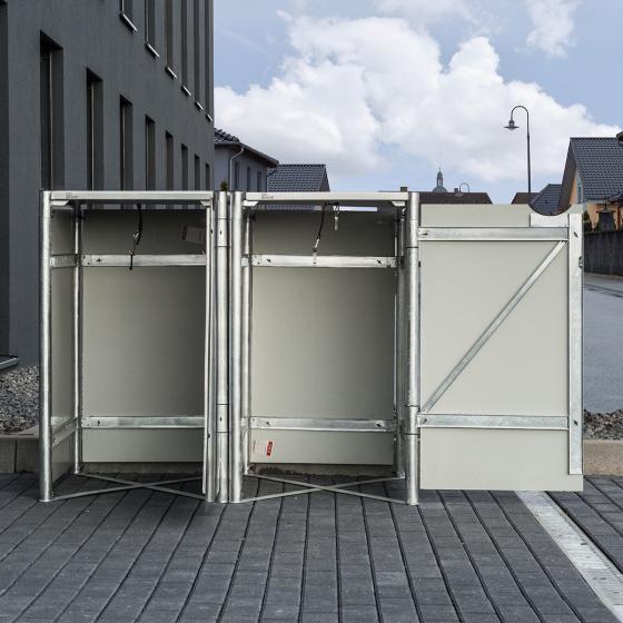 Mülltonnenbox 140l Kunststoff, 2er Box, grau | #5