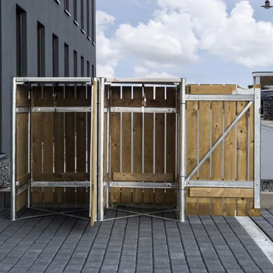 Mülltonnenbox 140l Holz, 2er Box, Natur | #5