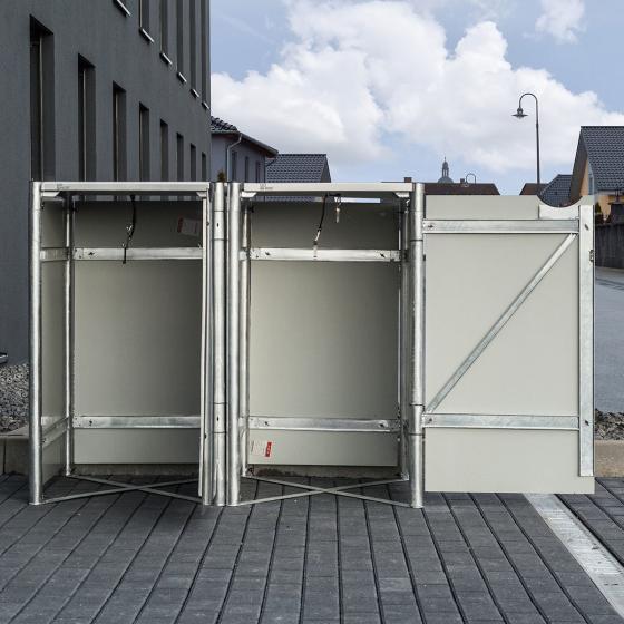 Mülltonnenbox 240l Kunststoff, 2er Box, schwarz | #5