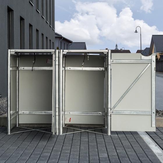 Mülltonnenbox 240l Kunststoff, 2er Box, grau | #5