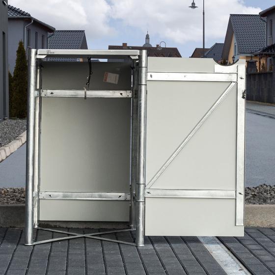 Mülltonnenbox 240l Kunststoff, 1er Box, grau | #5